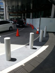 Engineer rated heavy duty bollards